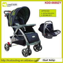 Carrinho de bebê novo 2 a 1 fabricante Carrinho de criança de bebê novo com assento de carro
