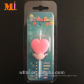 Fast Response Heart Shape Six Color Flame Birthday Candle In Bulk