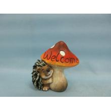 Mushroom Hedgehog forma de artesanía de cerámica (LOE2533-C11)