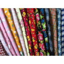 100% telas de franela de algodón para dormir ropa