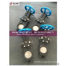 Válvulas de guilhotina com protetor
