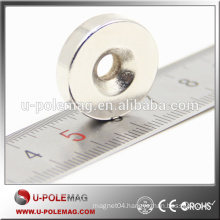 Super Strong 20x5mm Hole 5.2mm Ring Magnet with Countersink