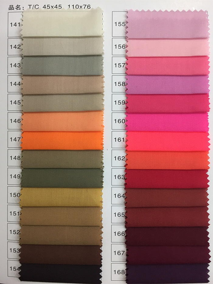 65 Polyester 35 Cotton Dyed Fabric
