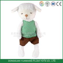 Juguete de felpa relleno personalizado de 25cm Muñeca de oveja lindo para niña