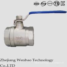Válvula de bola del bastidor de Manul del acero inoxidable del diámetro reducido 2PC
