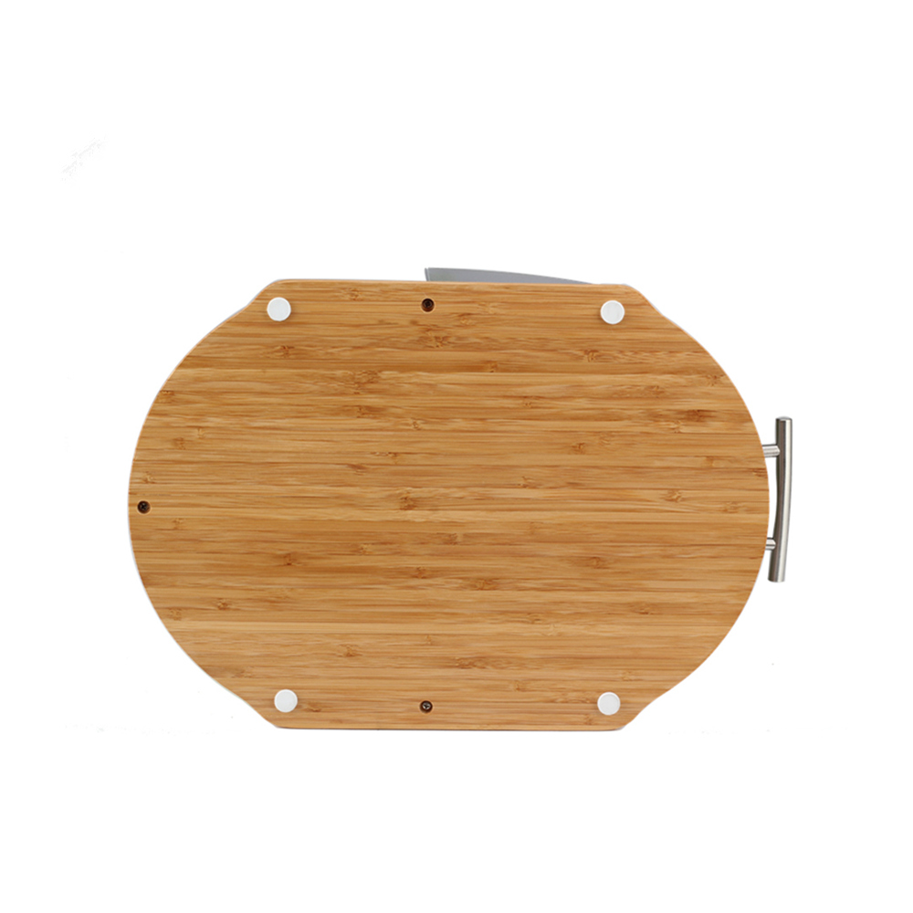 Non Slip Wooden Base Of Plastic Bread Bin
