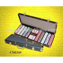 New arrival black aluminum 500 poker case