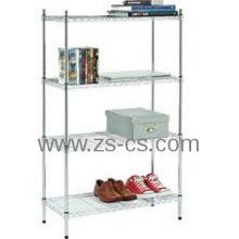 DIY Heavy Duty Chrome Adjustable Living Room Corner Shelf (CJ12045180A4C)