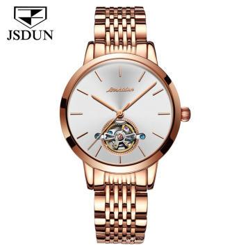 OEM Supply Private Label Watch New Design Fashion Chronograph Women Watch Luxury Ladies  Automatic Mechanical Wrist Watch