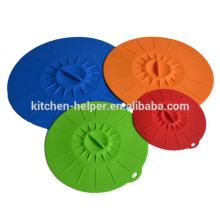 Hecho en China flexible de silicona resistente al calor cubierta de la tapa tapa de silicona