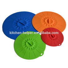 Made in China flexible heat resistant silicone pot cover lid silicone lid