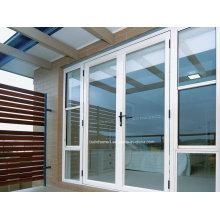 Custom Vantage Residential Modern White Powder Coat Porta de alumínio