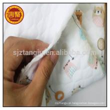 100% algodão stretch tecido de malha para colchão