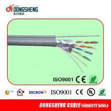 4pair 24AWG Bc Cat5e FTP 2 Cable del LAN de la energía