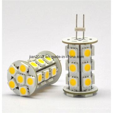 G4 LED 5050 24pcs branco 10-30V LED bulbo