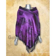 Tribal style flora viscose shawl