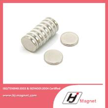 Aimant de NdFeB Permanent de disque sur l'industrie avec Grade N35-N52