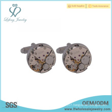 wholesale price white steel Plating Copper watch mechanism cufflinks