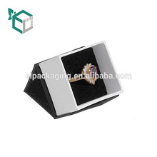 Fancy Paper White Ring Box With Ribbon