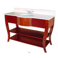 Meuble-lavabo de salle de bains en bois massif d'hôtel (B-51)