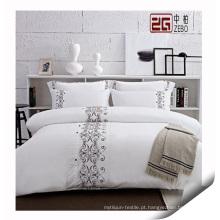 Fornecedor de têxteis 100% Algodão Hotel Bedding Set, High Quality Hotel Bedding Set