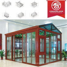 Factoy Sun Room com moldura de alumínio e vidro de qualidade, Fashion Winter Garden