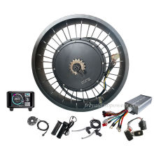 """SUPER  7 3  electric bicycle high power  motor kit hub 150mm dropout 3000w 5000w QS 205 fat tire ebike kit 26"""""""