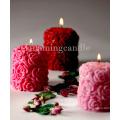 Романтические розовые столбы свечи без запаха и ручной работы парафин свечи