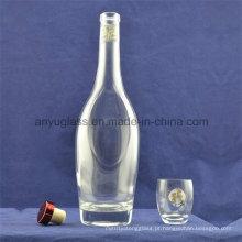 Moda clara em forma de uísque, rum, vodka, brandy, licor garrafas de vidro