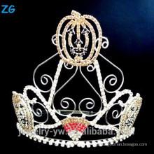 Corona alta del desfile de Halloween para los niños, corona de Halloween de las calabazas