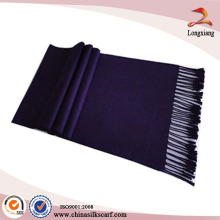 100% Silk Fashion Unisex Tassel Dual Face Color Brushed Silk Scarf
