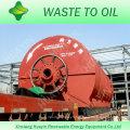 au lieu de l'incinération des déchets pour le recyclage des pneus usés à l'usine de mazout