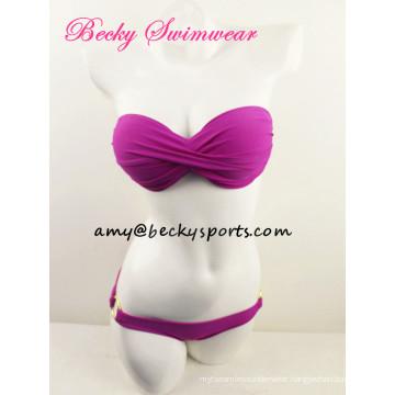 Lady′s Bikini Two Piece Swimsuit Beachwear Twist at CF