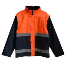 300d Оксфорд светоотражающие ленты высокое видимость безопасности куртка (YKY2808)