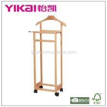Top venda cabide de madeira maciça com função