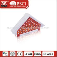 Tissu clair élégante boîte ronde / personnalisé serviette de table en plastique transparent