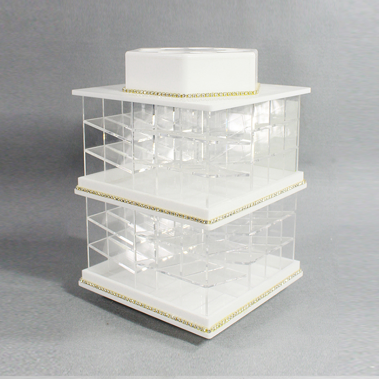 Acrylic Lipstick Spinning Holder Tower