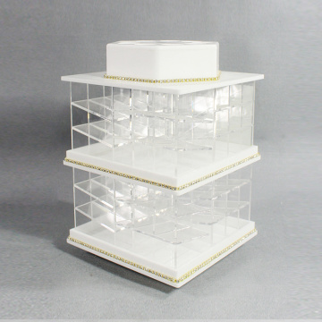 Acryl Lipstick Spinning Holder Tower