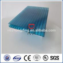 Revestimiento UV 16mm hoja de policarbonato hueco