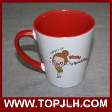 Customized Printing 12oz Inner Colorful Cone Mug