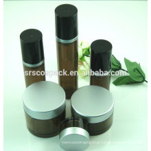 China 15ml 50ml 80ml forma redonda PETG frasco para cosméticos garrafas de 3 oz