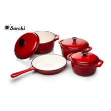 Enamel cookware set casserole pan set