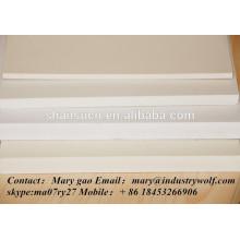 panneau de mousse de PVC extrudé de haute densité meilleur prix ventes / feuilles de plexiglass / matériaux dans la fabrication de pantoufles / feuilles de polycarbonate