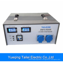 Voltage Stabilizer SVC-5000 with circuit breaker, LCD meter display