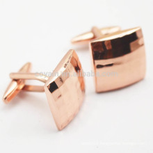 Customized Copper Cufflinks With Plaid