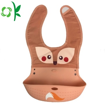 Produk Baru Custom Double Material Silicon Baby Bibs