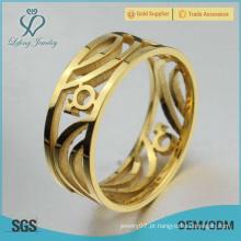 Aço inoxidável ouro anel gay, anéis de compromisso gay