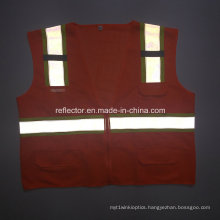 High Quality 2016reflective Vest Safety Waistcoat Reinforcing Design for Work