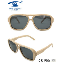 2016double Bridge Men Stylish Wooden Sunglasses