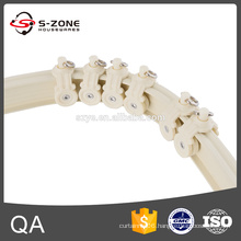 Stripe aluminum bendable curtain track for bay window